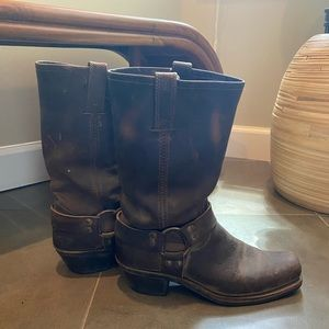 Frye brown motorcycle boots